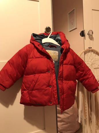 Zimowa kurtka Zara czerwona rozm.74cm