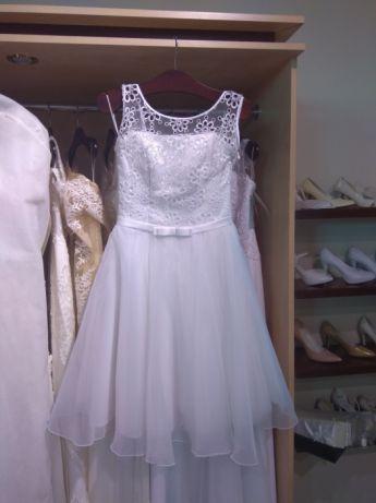 Suknia,sukienka, ślubna Agnes krótka rozmiar 36.