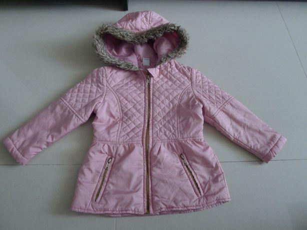 Przejściowy, różowy płaszcz, płaszczyk, kurteczka, kurtka, rozm. 104