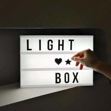 Лайтбокс в спальню для повідомлень цитат А4 Подарок светильник ночник
