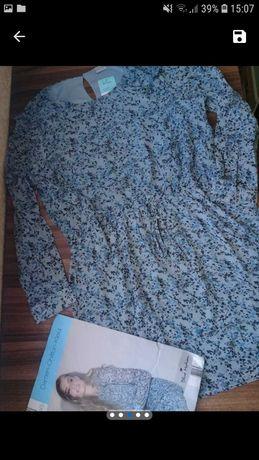 Новое шифоновое платье на подкладке blue motion размер М-XL