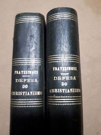 2 Tomos da coleção de 1852 Defesa do Cristianismo