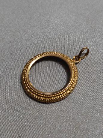 Medalha aro de libra em ouro de 19,2kt