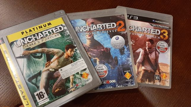 Uncharted całaTRYLOGIA PS3