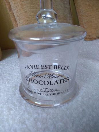Pojemnik szklany na czekoladę lód z przykrywką