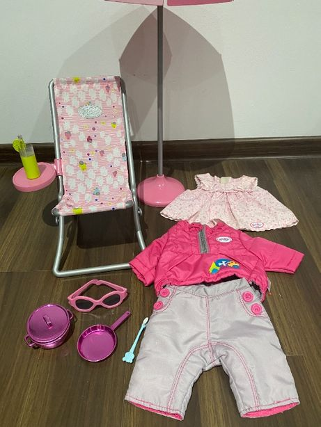 Ubranka i akcesoria dla lalki Baby Born- zestaw