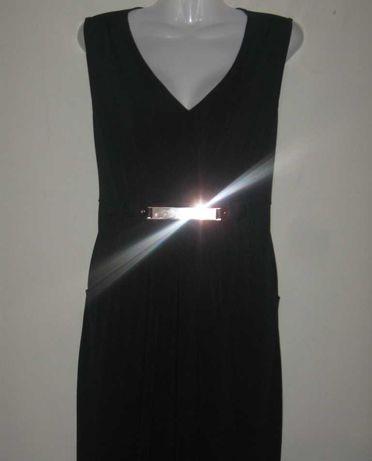 Платье чёрное прямое длинное, макси,  в греческом стиле. 38 -40 р-р