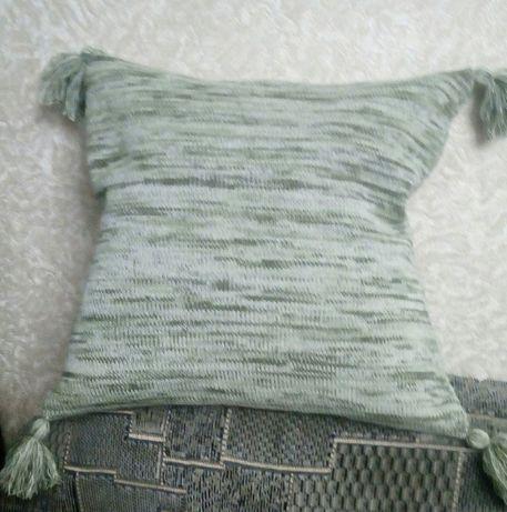 Вязаный декоративный чехол на подушку