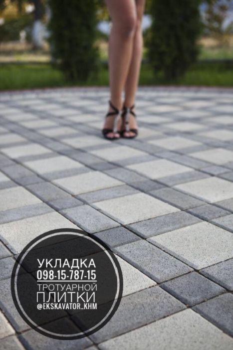 Укладка тротуарной плитки бруківка вкладання бруківки благоустройство Хмельницкий - изображение 1