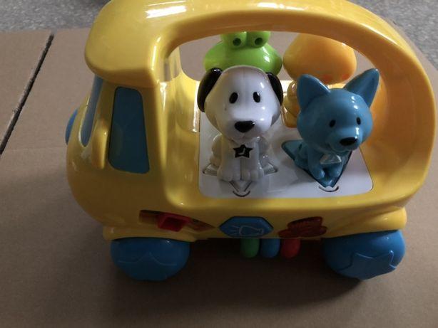 Samochód samochodzik ze zwierzętami Smiki