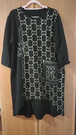 Nowa czarna Sukienka bądź tunika xxl 48