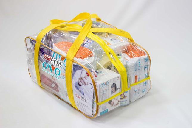 Сумка в роддом, прозрачные сумки для вещей. Сумка в пологовий будинок.