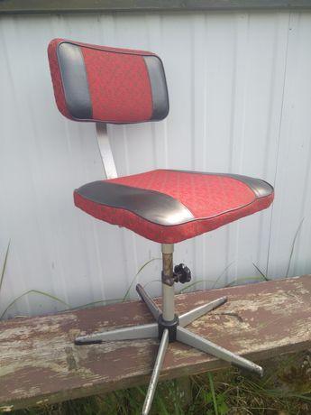 Krzesło obrotowe retro vintage PRL