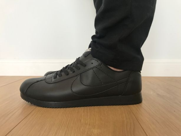 Nike Cortez/ Rozmiar 44 Całe Czarne *WYPRZEDAŻ*