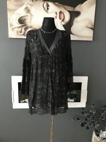 Sukienka Italy Moro Zwiewna Mgiełka Nowa Silk