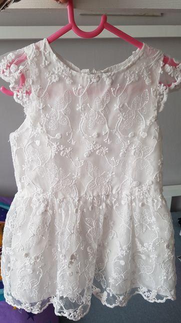 Sukienka reserved biała 104