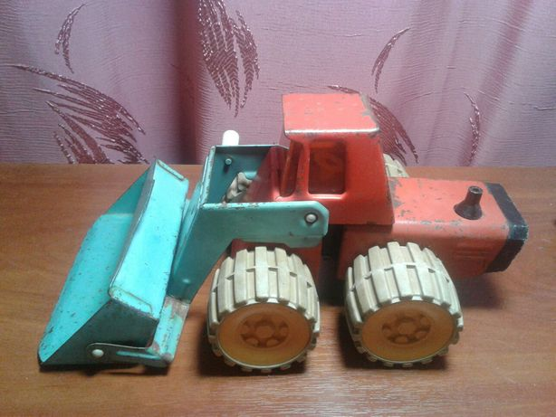 Игрушка экскаватор трактор бульдозер времён СССР