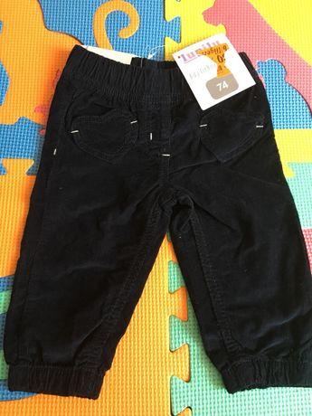 Вельветовые штаны джоггеры для девочки Lupilu