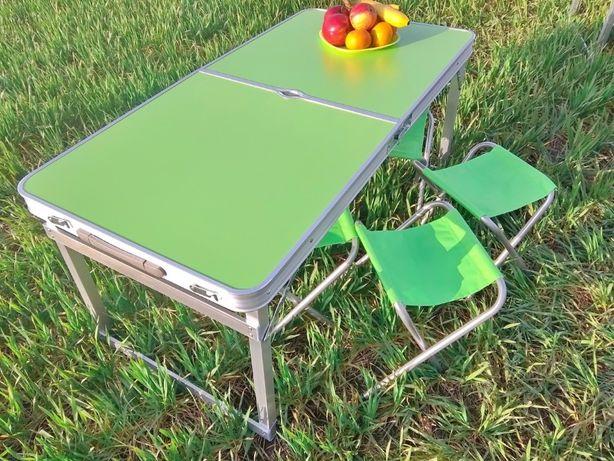 Усиленный стол для пикника, природы и 4 стульчика Салатовый и другие