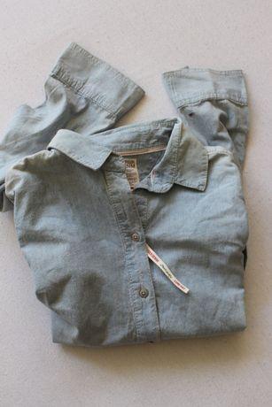 niebieska bawełniana koszula s