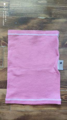 Komin BUFF merino wełna różowy oversize