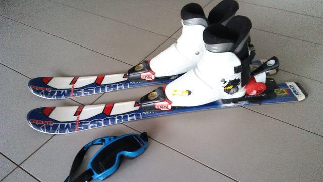narty dziecięce juniorskie Salomon Crossmax Grom 80cm bury narciarskie
