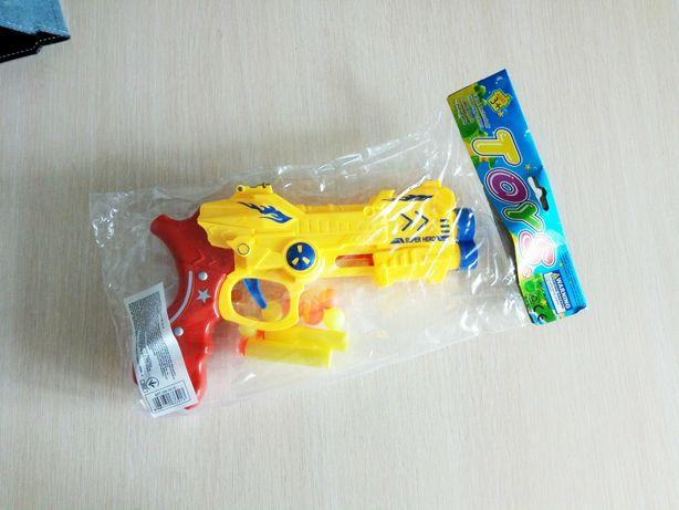 Игрушка пистолет на мягких пуля пульках