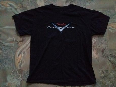 Оригинальная футболка мерч Fender Custom Shop size L Состояние хорошее