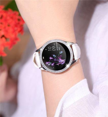 DAMSKI SMARTWATCH zegarek KW20 krokomierz puls OLED cykl