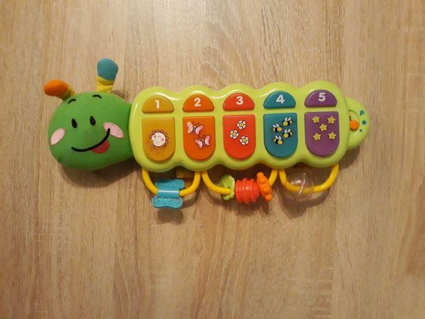 smily play zabawka edukacyjna pianinko gąsienica zuzia