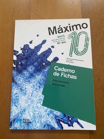 Caderno de Fichas Máximo 10 MACS