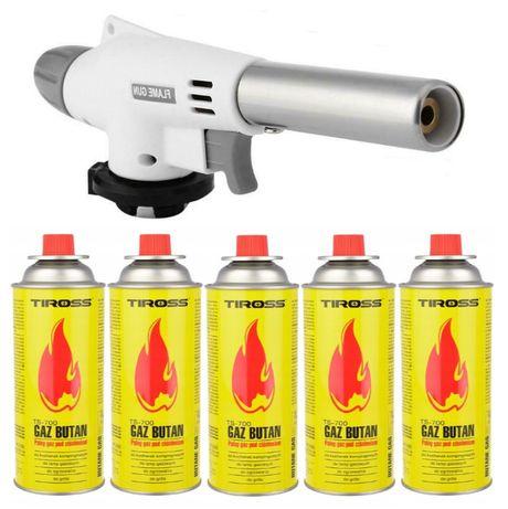 Palnik gazowy cermaiczny lutlampa 1300C + 5 x gaz