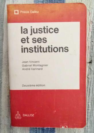 La justice et ses institutions + code civil / Dalloz  français francês