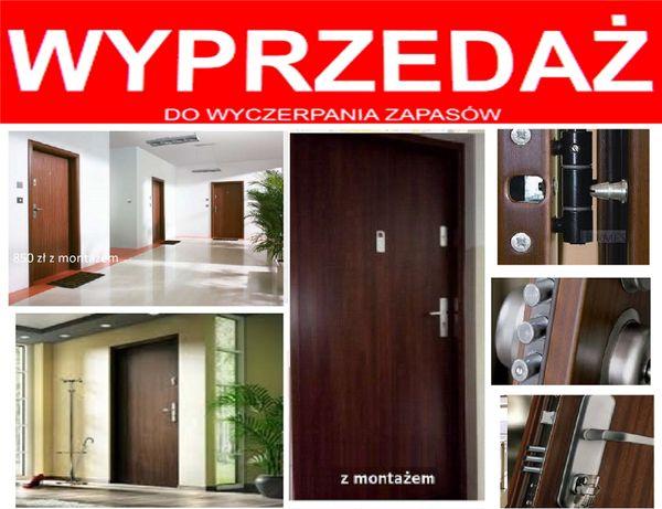 wyciszone drzwi z MONTAŻEM ,wejściowe-zewnętrzne ,metalowe i drewniane