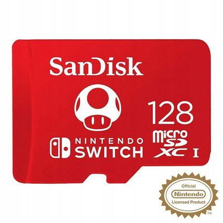 SanDisk Nintendo Switch 128 GB 100/90 MB/s V30 U3 dedykowana