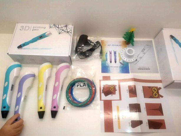 3Д ручка Dewang RP100A +подставка +пластик +трафареты ABS PLA 3D Pen 2