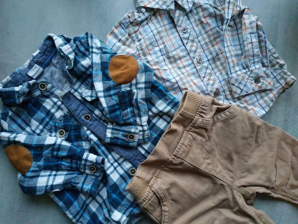 2 koszule krata i eleganckie spodnie 62 coolclub c&a