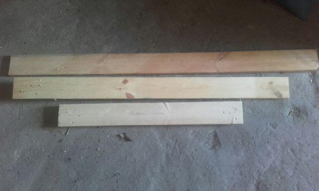 Deski sosnowe o wymiarach 80,90,120,140cm dlu, i 10cm szerokości,