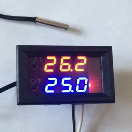 Терморегулятор термостат w1209 wk встраиваемый 12вольт. термометр.