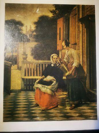 """Obraz """"Kobiety"""" prawdopodobnie malowany ręcznie"""
