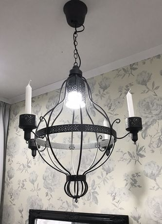 Lampa sufitowa , żyrandol na świece i żarówkę