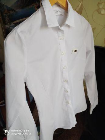 Продам фирменную белую рубашку р46-48 отличного качества