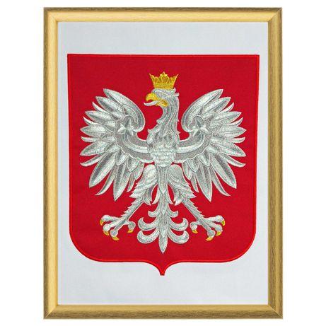 Godło RP Orzeł Polski 30x40   gabinetowe HAFT   MSZANA DOLNA  