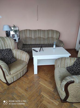 Wypoczynek kanapa sofa plus dwa fotele
