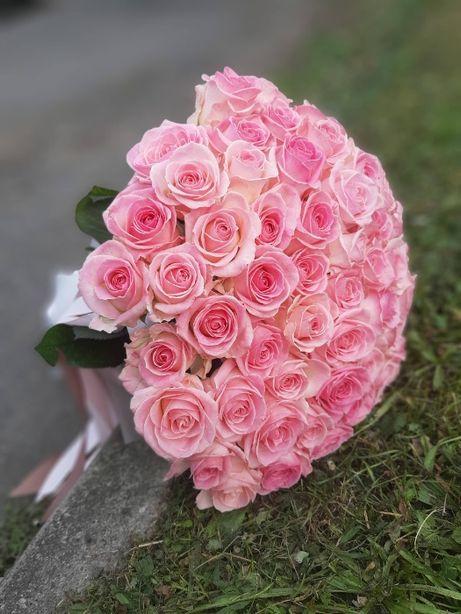Bukiet 30 róż wysoki żywych kwiatów poczta kwiatowa bukiety walentynki