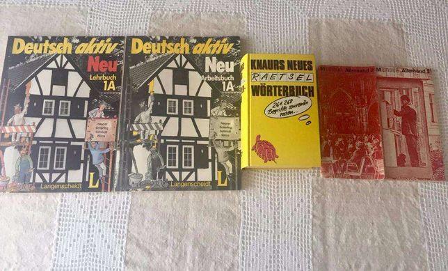 Livros de aprendizagem de Alemão. Usados, antigos.