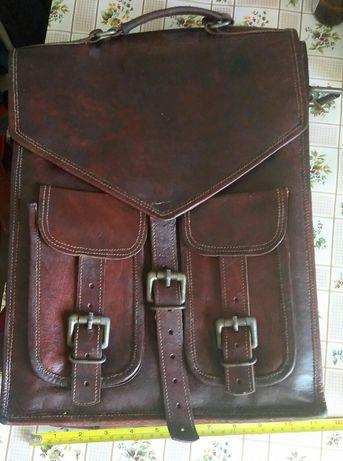 Рюкзак-сумка,  кожаный. В хорошем состоянии.
