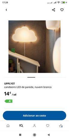 Candeeiro nuvem quarto criança novo IKEA