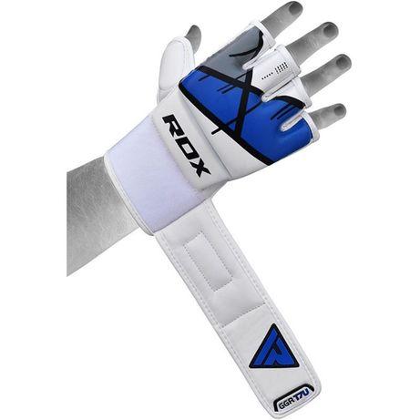 Перчатки RDX для ММА белый+синий