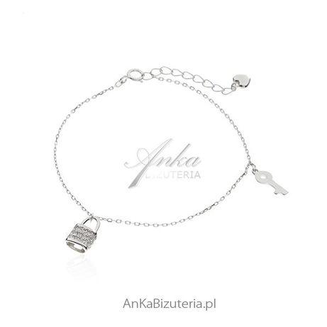 ankabizuteria.pl Bransoletka srebrna z przywieszkami - Modna biżuteria